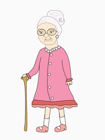 old lady Vetores