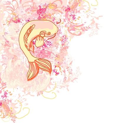 koy carp:  japanese koi background