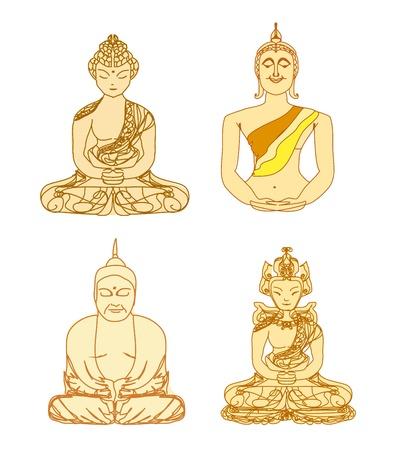 Chinese Traditional Artistic Buddhism Pattern set