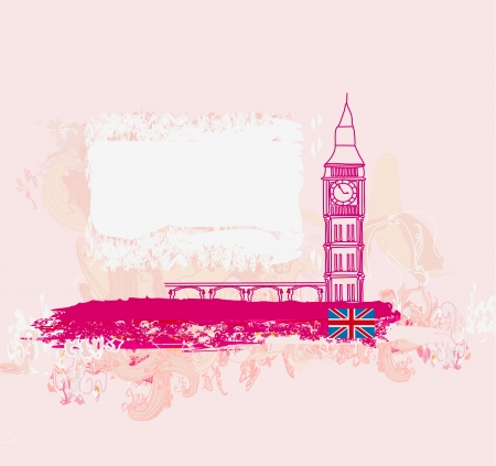 Grunge banner with London Stock Vector - 15029928