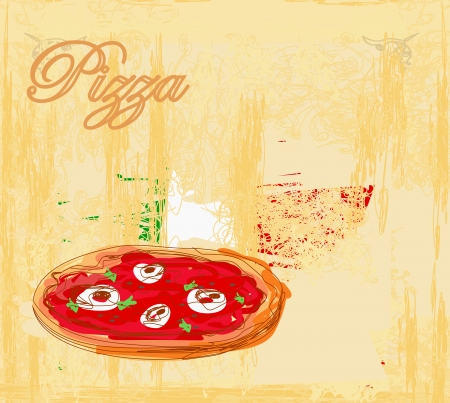 Pizza grunge poster Stock Vector - 15093068