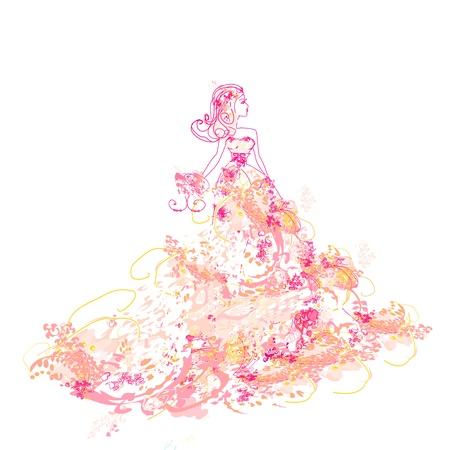 evening church:  Beautiful princess - doodle