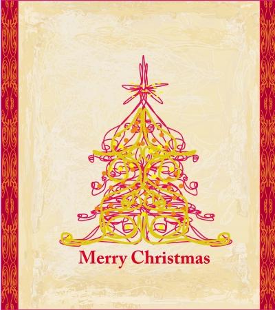 Abstract christmas tree card Stock Vector - 15093127