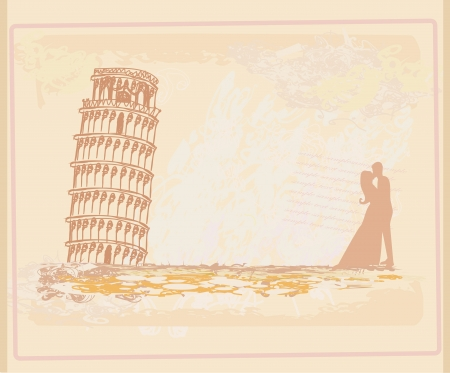 Young Couple of Tourists in Pisa Stock Vector - 15500876
