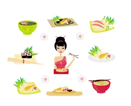 Sushi set  Stock Vector - 15503501