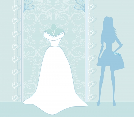 Wedding dress salon        Vector