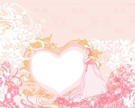 Beautiful bride card Stock Vector - 15237582
