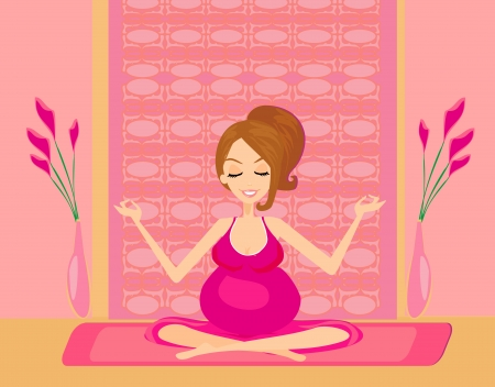yoga for pregnant woman Stock Vector - 15304364