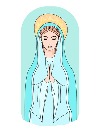 Blessed Virgin Mary Stock Vector - 15304334