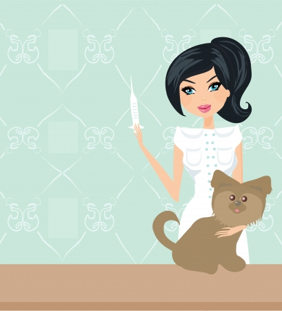 veterinary animal doctor  Vector