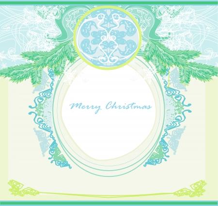 Christmas Framework style card Stock Vector - 15432918
