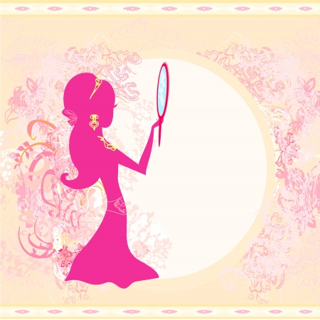 Girl and jewellerys - abstract background Vector