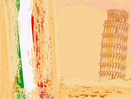 vector pisa tower grunge background Stock Vector - 15558734