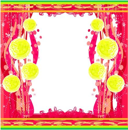 Christmas Framework style card Stock Vector - 15623530
