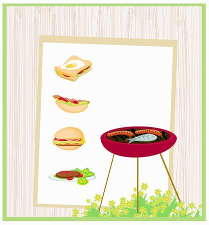 Barbecue Party Invitation  Stock Vector - 15685070