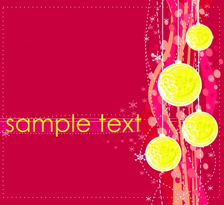 Christmas Framework style card Stock Vector - 15712721