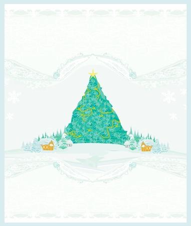 Abstract christmas tree card Stock Vector - 15712730