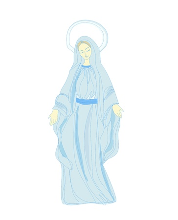 virgin mary:  Blessed Virgin Mary  Illustration