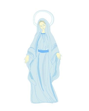 madona: Sant�sima Virgen Mar�a Vectores