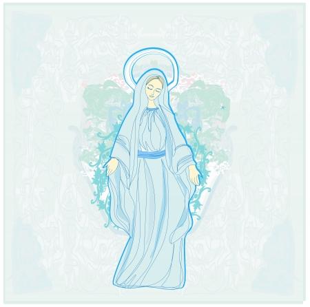 Heilige Maagd Maria Vector Illustratie
