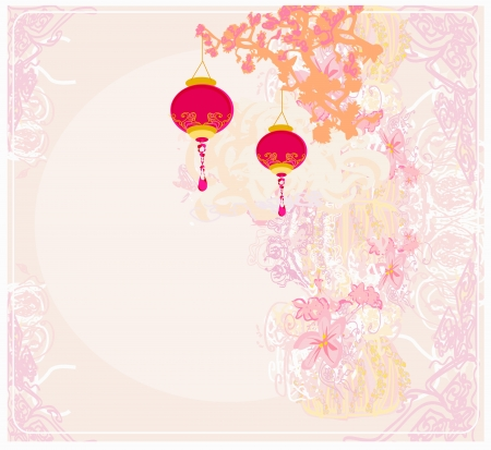 chinese art:  Chinese New Year card  Illustration
