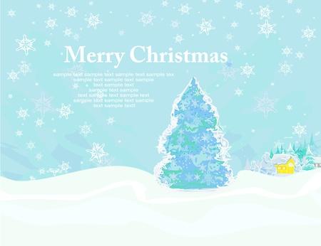 Abstract christmas tree card Stock Vector - 15802454