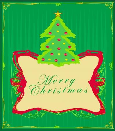 Abstract christmas tree card Stock Vector - 15802464