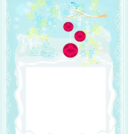 Christmas bird with decorative balls Stock Vector - 15827536
