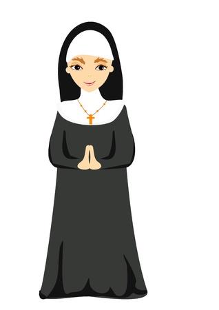 clergy: ilustraci�n de monja Vectores