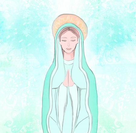 mary and jesus:  Blessed Virgin Mary  Stock Photo