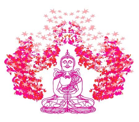 Chinese Traditional Artistic Buddhism Pattern  Illustration