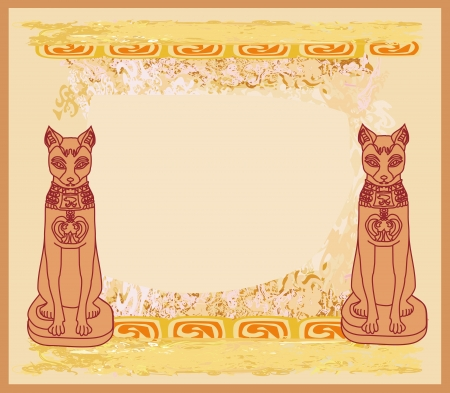 Stylized Egyptian cats Stock Vector - 15864966