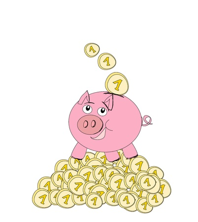 Piggy bank - doodle illustration Stock Vector - 15914481