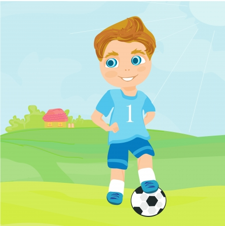 physical education:  Young soccer player