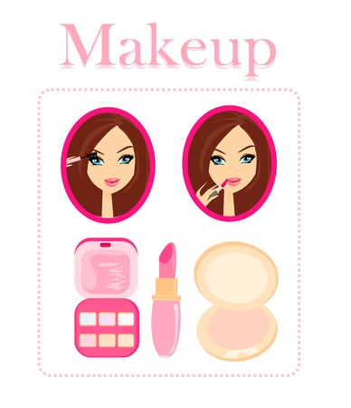 make up woman:  Make-up girl