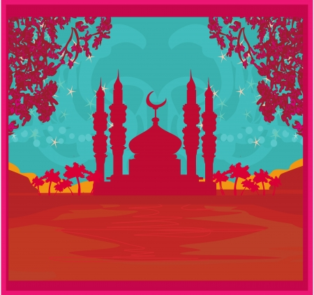 feter:  Ramadan background - mosque vector illustration