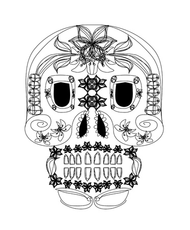day of the dead skull  Stock Vector - 16060893