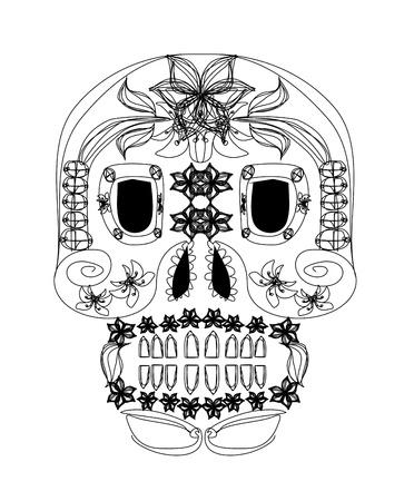 day of the dead skull Stock Vector - 16060893