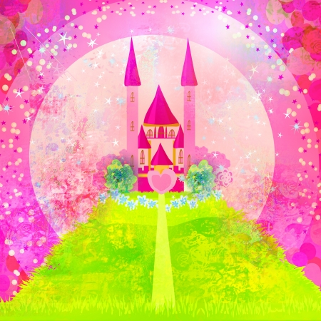 stones with flower:  Magic Fairy Tale Princess Castle