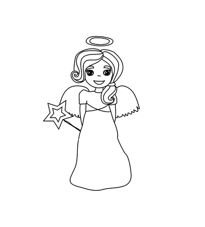 Christmas doodle angel  Stock Vector - 16138887