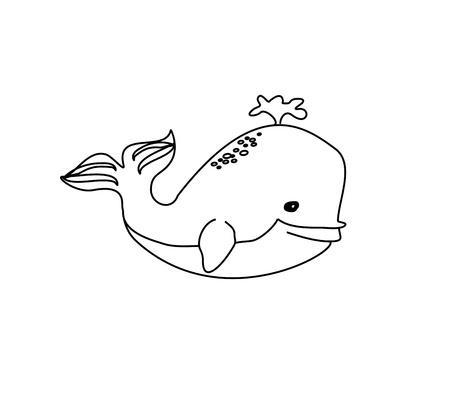 Cute Whale - Vector  Stock Vector - 16138893
