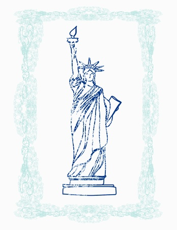 Statue of Liberty - doodle illustration Vector