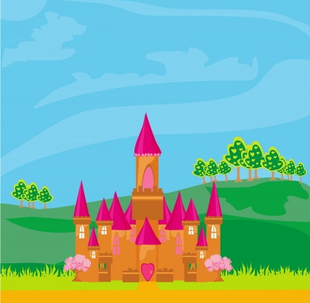 Magic Fairy Tale Princess Castle  Stock Vector - 16234628