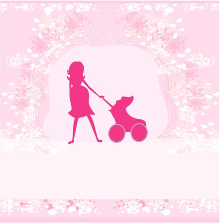 pregnant woman - silhouette illustration Vector