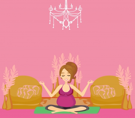yoga for pregnant woman Stock Vector - 16245126