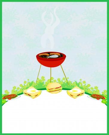 Barbecue Party Invitation  Stock Vector - 16245235