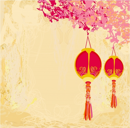 decorate element:  Chinese New Year card  Illustration