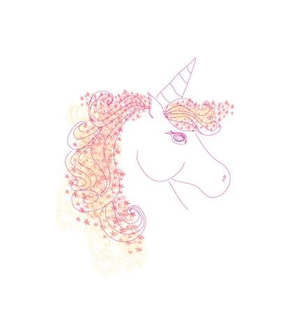 Vector Illustration of beautiful Unicorn Stock Vector - 16351814