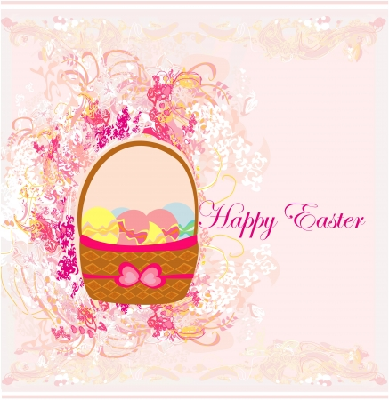 happy easter border.  Stock Vector - 16351836