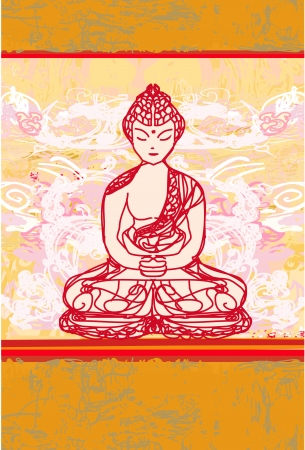 buddist:  Vector of Chinese Traditional Artistic Buddhism Pattern  Illustration